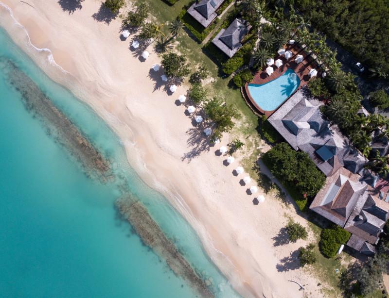 Luxushotel Karibik Kleine Antillen Antigua und Bermuda Hermitage Bay