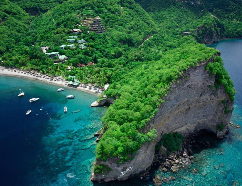 Luxushotel Karibik Nick Troubetzkoy's Jade Mountain Jade Mountain