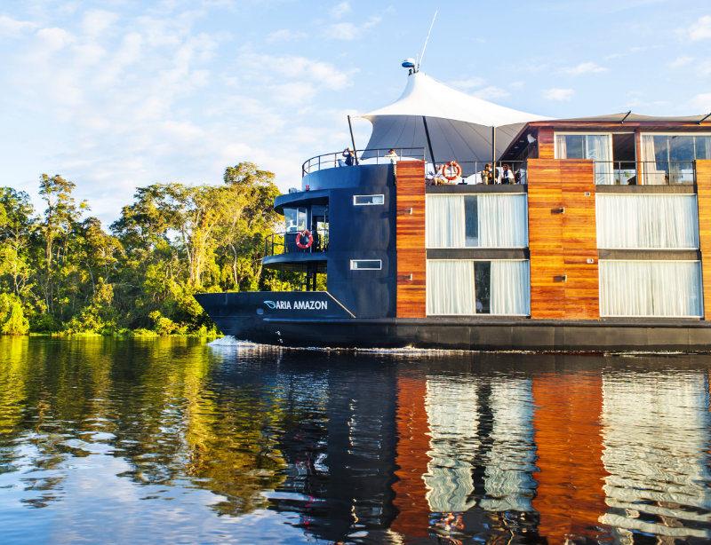 Luxusschiff Luxusurlaub Kreuzfahrt Amazonas Aria